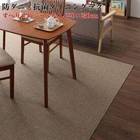 ラグマット 日本製 ラグ じゅうたん マット 220×250cm 撥水 防汚 防ダニ 抗菌 Safes サフィス ダイニングラグ 220*250 長方形 敷きもの キッチンラグ 横長 撥水 ホットカーペット対応 絨毯 台所 リビング 床暖房 ダイニング
