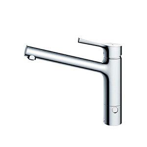 台付シングル混合水栓(エコシングル、湯水分岐口付) TKS05309J