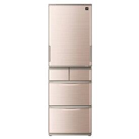 【5/20はエントリー&楽天カード決済でポイント7倍】シャープ SHARP 冷蔵庫 412L ブラウン系 どっちもドア プラズマクラスター SJ-W413G-T