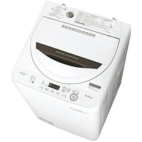 シャープ SHARP 全自動洗濯機 5.5kg ブラウン ES-GE5B-T