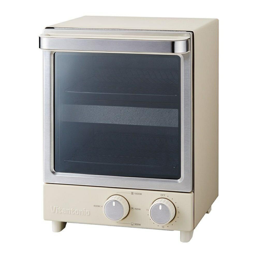 ビタントニオ Vitantonio 縦型オーブントースター アイボリー VOT-20