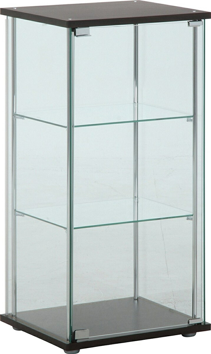 不二貿易 3段 ガラスコレクションケース 幅42.5cm 96049