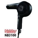 【送料無料】 Nobby NB3100 マイナスイオン ヘアー ドライヤー ブラック 1500W 大風速 ハイパワー 日本製 49753021330…