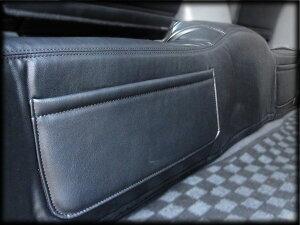 2月中旬入荷予約ハイエース200系4型〜1型セカンドフロアレザーカバーワイド用ポケット付内装カスタムcrd