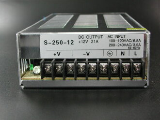 Switching power supply DC stabilized power supply 12V-21A 250 W AC100V to DC!