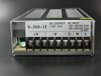 开关电源直流安定化电源12V~21A 250W AC100V在直流