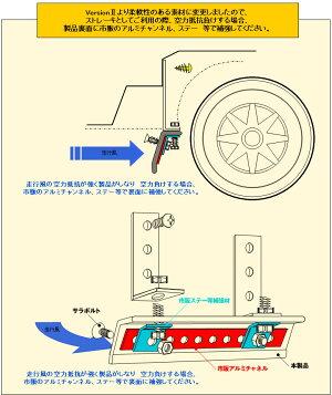 エアーストレーキスパッツ3mver.2タイヤホイールエフェクターラバーセンターエアダムアンダースポイラーリップモールとしてもcrd
