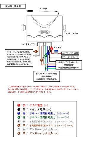 キーレスエントリーキットアンサーバック機能付Ver.2軽トラジムニーキャリーハイゼットミニキャブプロボックスリモコン集中ドアロックcrd