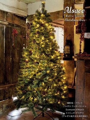 10月中旬入荷予約クリスマスツリー120cm枝が増えた2019ver.樅クラシックタイプ高級ドイツトウヒツリーオーナメントなしアルザスツリーAlsaceおしゃれヌードツリー北欧スリムLEDクリスマス