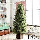 ポットツリー クリスマスツリー 180cm 180 樅 高級 (オーナメントなし)【ノエル】おしゃれ ヌード 足元スカート ツリースカート 足隠し…