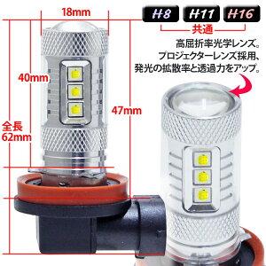 当店おすすめLED球!LEDフォグランプH8H11H1680w改良版バルブライトcrd