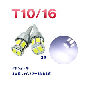 T10/T167.5W球LEDバルブ高拡散ハイパワーSMDアルミヒートシンク搭載【ホワイト】2個