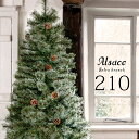 Alsace®公式【週間ランキング9週連続1位】予約 クリスマスツリー 210cm 豊富な枝数 2021ver. 樅 クラシックタイプ 高…