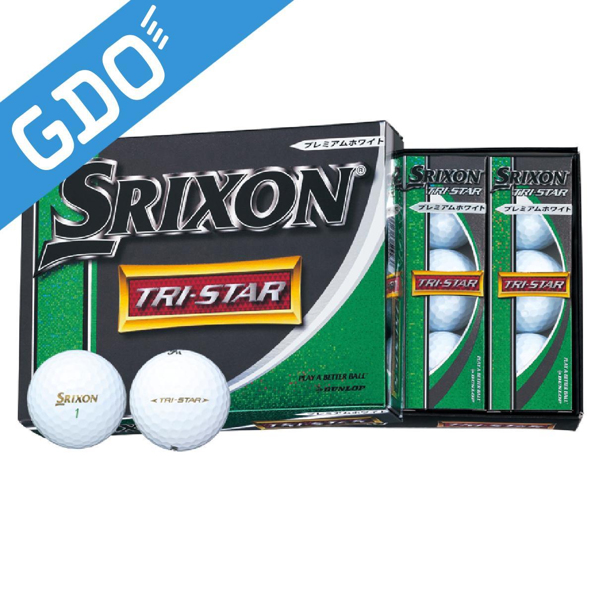 ダンロップ SRIXON TRI-STAR ボール/ゴルフボール[ゴルフ用品 GOLF GDO ボール ゴルフボール プレゼント ギフト 通販 楽天]