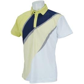 デサントゴルフ DESCENTE GOLF ECO 鹿の子UMIプリント半袖ポロシャツ メンズ ゴルフウェア 春 夏