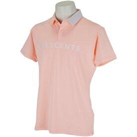 デサントゴルフ DESCENTE GOLF ストレッチグラデーションロゴプリント半袖ポロシャツ メンズ ゴルフウェア 春 夏