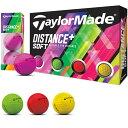 テーラーメイド taylormade ゴルフボール 1ダース DISTANCE+ Distance+ スポーツ ゴルフ用品
