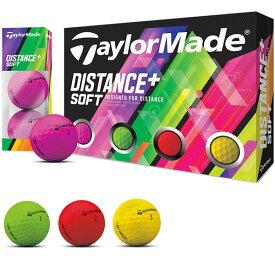 【まとめ割りクーポン対象★3ダース以上購入で5%OFF〜】テーラーメイド taylormade ゴルフボール 1ダース DISTANCE+ Distance+ スポーツ ゴルフ用品