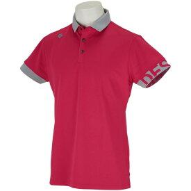 デサントゴルフ DESCENTE GOLF アウトラス鹿の子横ゴムロゴ 半袖ポロシャツ メンズ ゴルフウェア 春 夏