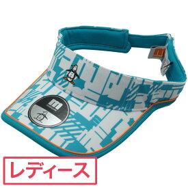 マンシングウェア Munsingwear ENVOY総柄プリントサンバイザー レディス