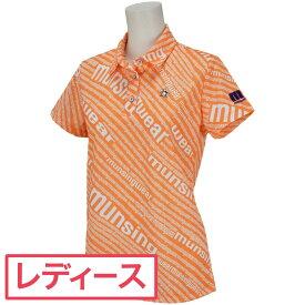 マンシングウェア Munsingwear ロゴプリント半袖ポロシャツ レディス