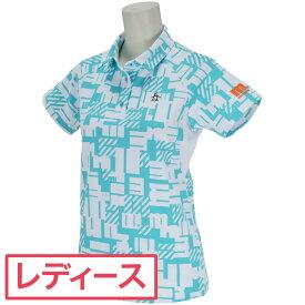 マンシングウェア Munsingwear SUNSCREEN&MOTION 3D変形mロゴプリント半袖ポロシャツ レディス