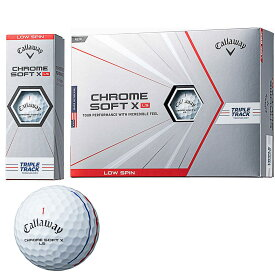 キャロウェイゴルフ callaway golf ゴルフボール 1ダース クロムソフト CHROME SOFT X LS TRIPLE TRACK トリプルトラック スポーツ ゴルフ用品