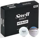 送料無料 スネルゴルフ Snell GOLF MTB BLACK ゴルフボール 1ダース スポーツ ゴルフ用品