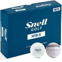 【まとめ割りクーポン対象★3ダース以上購入で5%OFF〜】送料無料 スネルゴルフ Snell GOLF MTB-X ゴルフボール 1ダース スポーツ ゴルフ用品