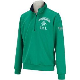 マンシングウェア Munsingwear ストレッチロゴプリントハーフジップカットソー メンズ ゴルフウェア 春 夏