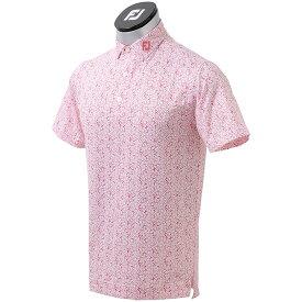 フットジョイ Foot Joy フラワープリント 半袖ライルシャツ メンズ ゴルフウェア 春 夏