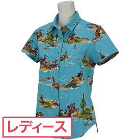 マンシングウェア Munsingwear カウペンギンプリント半袖シャツ レディス