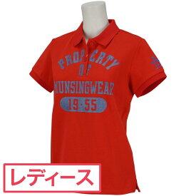 マンシングウェア Munsingwear BIG鹿の子エイジング加工プリント半袖ポロシャツ レディス