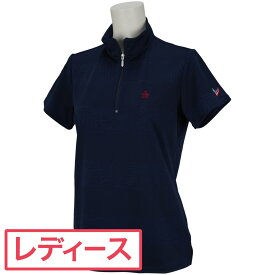 マンシングウェア Munsingwear 半袖ジップシャツ レディス