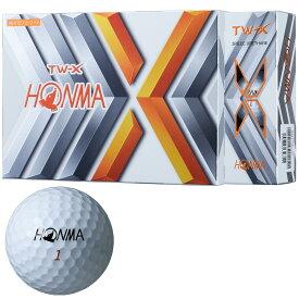 【まとめ割クーポン対象★3個以上購入で18%OFF〜】本間ゴルフ TOUR WORLD TW-X ゴルフボール 1ダース スポーツ ゴルフ用品