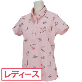 マンシングウェア Munsingwear RENUシャンブレーオンプリント半袖ポロシャツ レディス