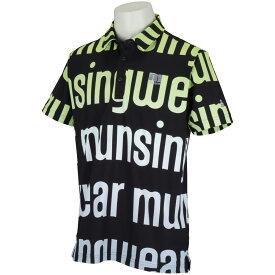 マンシングウェア Munsingwear ENVOY グラデーションビッグロゴ半袖ポロシャツメンズ 2021年 春夏 クリアランス セール ゴルフウェア ゴルフ