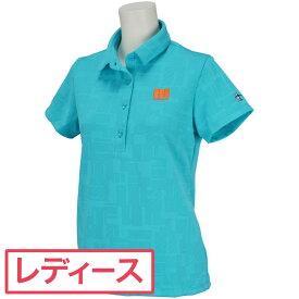 マンシングウェア Munsingwear 変形mロゴ半袖ポロシャツ レディスレディース 2021年 春夏 クリアランス セール ゴルフウェア ゴルフ