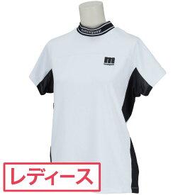 マンシングウェア Munsingwear ストレッチ配色切り替え半袖シャツ ゴルフウェア レディース 春 夏 レディス