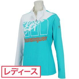 【10%OFFクーポン】 マンシングウェア Munsingwear ジップアップ長袖シャツ レディス couponspecialwearone