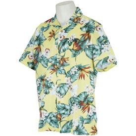 マンシングウェア Munsingwear オーガニックコットンボタニカルプリント半袖シャツ メンズ ゴルフウェア 春 夏