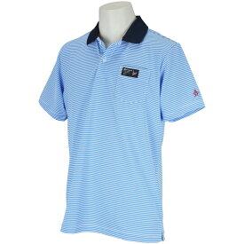 マンシングウェア Munsingwear ストレッチ細線ボーダー半袖ポロシャツ メンズ ゴルフウェア 春 夏