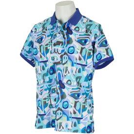 マンシングウェア Munsingwear レダニアコラボストレッチアートプリント半袖ポロシャツ