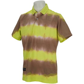 マンシングウェア Munsingwear オーガニックコットン絞り染め半袖ポロシャツ