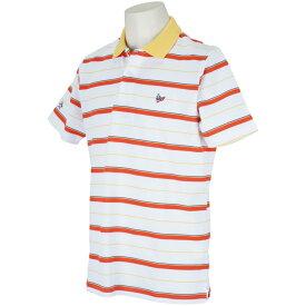 マンシングウェア Munsingwear ストレッチ鹿の子ボーダー半袖ポロシャツ メンズ ゴルフウェア 春 夏