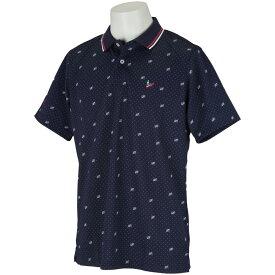 マンシングウェア Munsingwear ストレッチ鹿の子ドットプリント半袖ポロシャツ