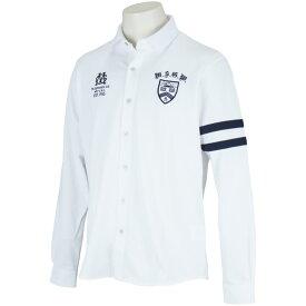 マンシングウェア Munsingwear ストレッチ鹿の子長袖オープンシャツ