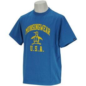 マンシングウェア Munsingwear ピートロゴエイジング加工半袖Tシャツ メンズ ゴルフウェア 春 夏