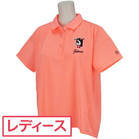 マンシングウェア Munsingwear レダニアコラボワッペンオーバーサイズ半袖ポロシャツ ゴルフウェア レディース 春 夏 レディス