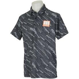 マンシングウェア Munsingwear ENVOY SUNSCREENロゴプリント半袖シャツ メンズ ゴルフウェア 春 夏